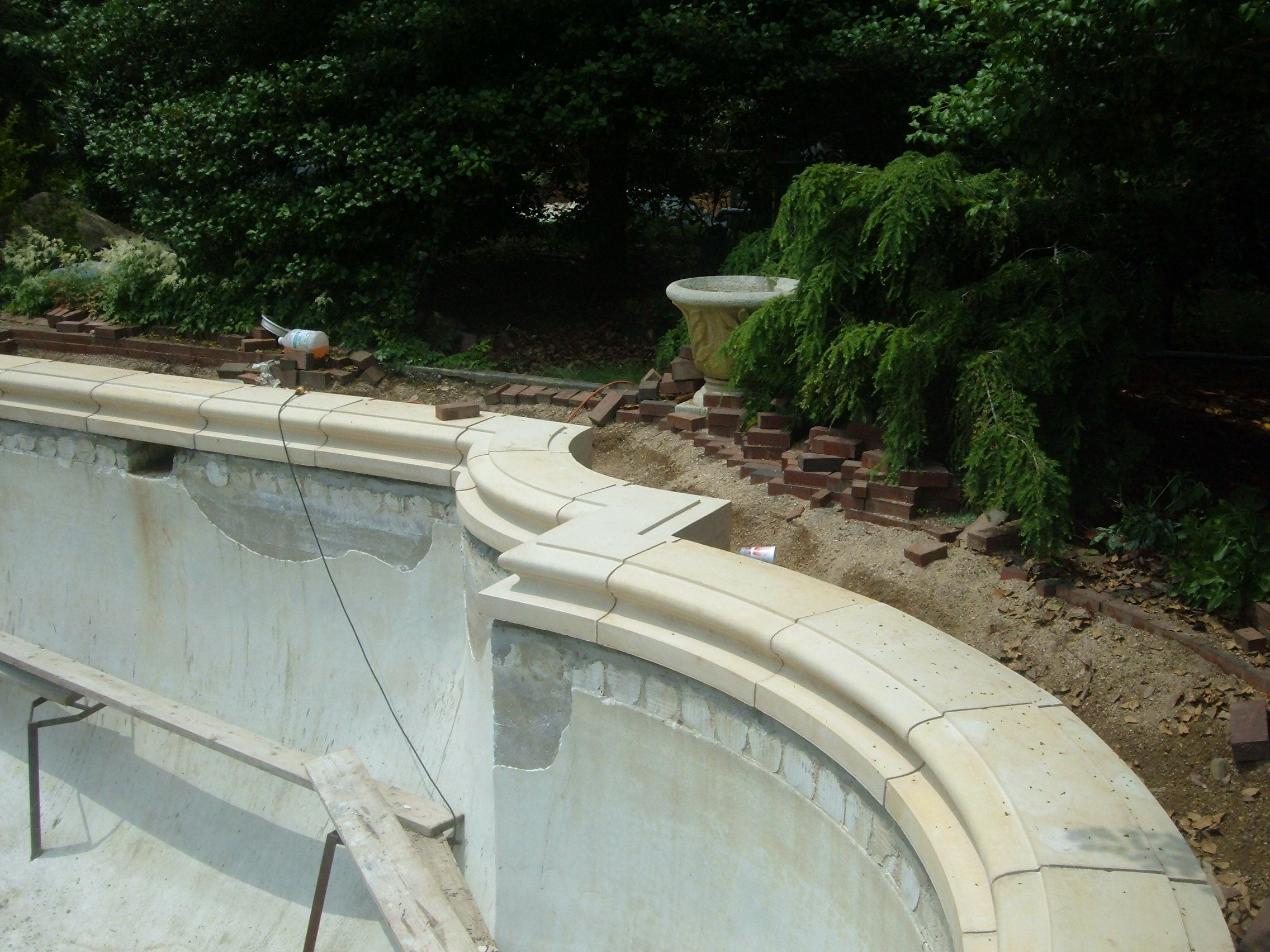 Concrete pool coping google search pools pinterest for Concrete pool