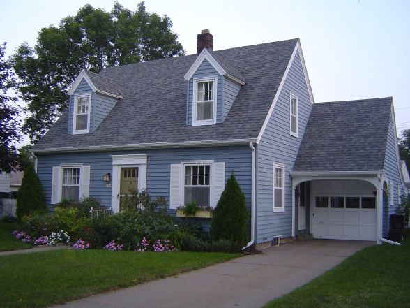 Garage roof match house no add dormers yes garages for Cape cod garage