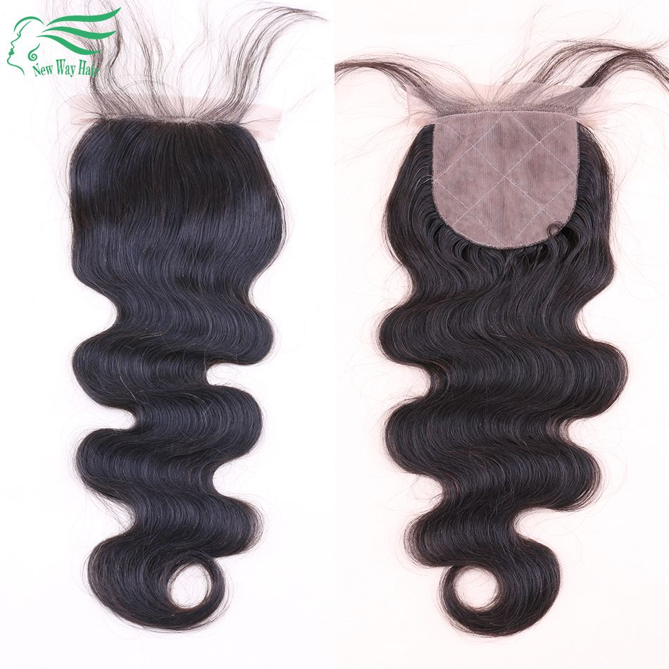 Costing Sell Middle/Free/3 Part Silk Base Closure Brazilian Hair Silk Closure Body Wave Silk Top Closure 4*4 Silk Lace Closure