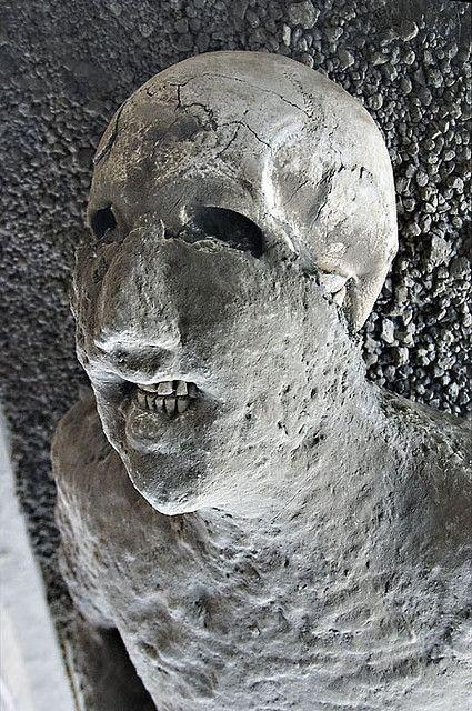 Victim Of The 79 Ce Eruption Of Mount Vesuvius Near Pompeii Note
