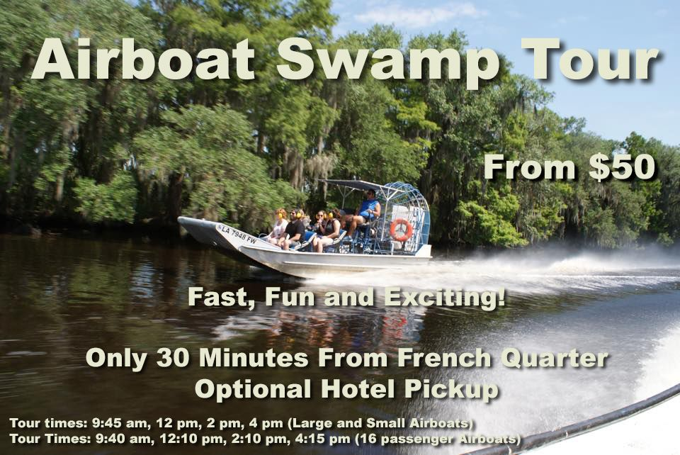 New Orleans Airboat Tour from 50 Swamp tours, Airboat