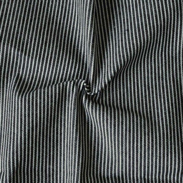 Blau Farbkarte: 100% Baumwolle Denim Jeans Stoff Gestreift Farbe Blau-Grau