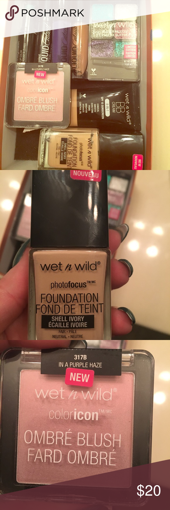 Wet N Wild Make Up Bundle Pinterest Photo Focus Bermuda Moodmatcher Liquid Matte Just Blush All Products Used Only Once Foundation