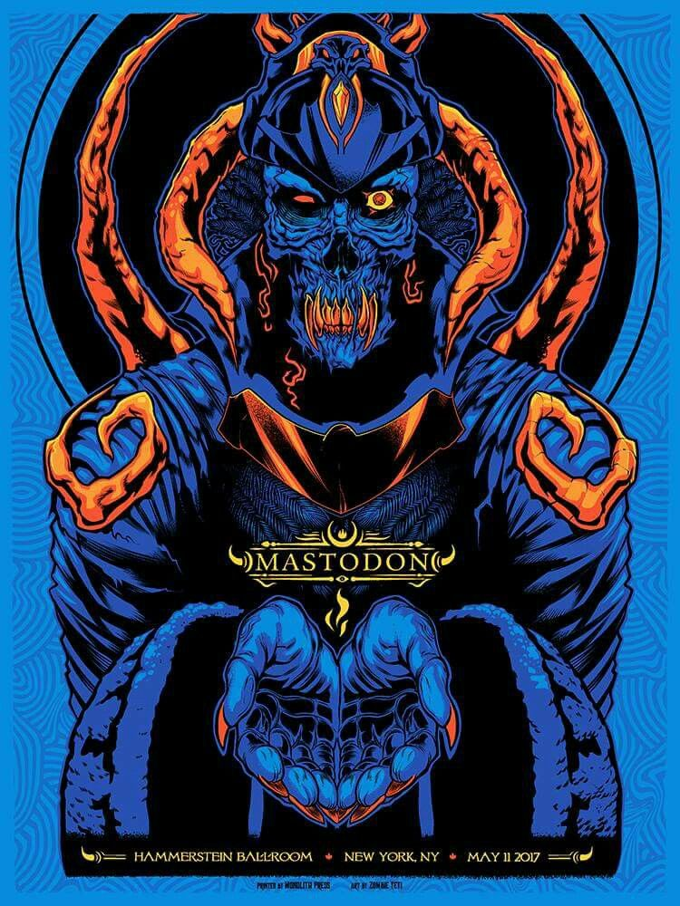 Mastodon With Images Rock Poster Art Concert Poster Design