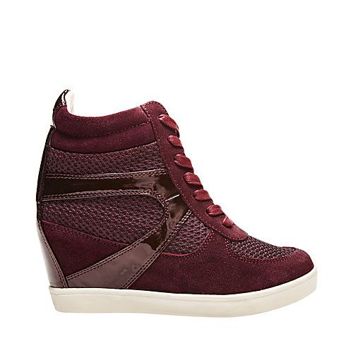 So, I caved.. and got these...   OLYMPA-X BURGUNDY MULTI women's athletic fashion wedge - Steve Madden