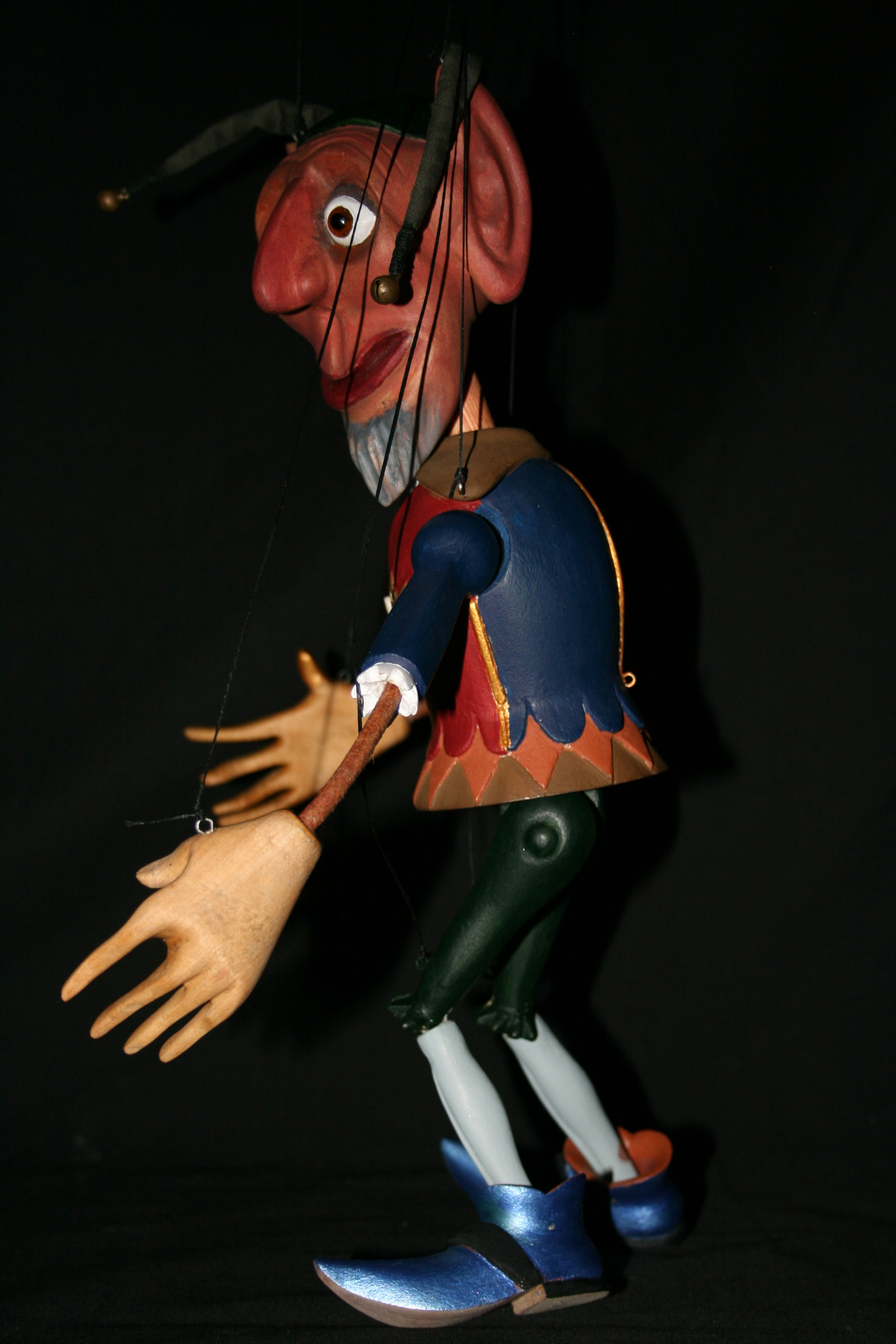 A Small Marionette Of The Renown German Folk Character Till