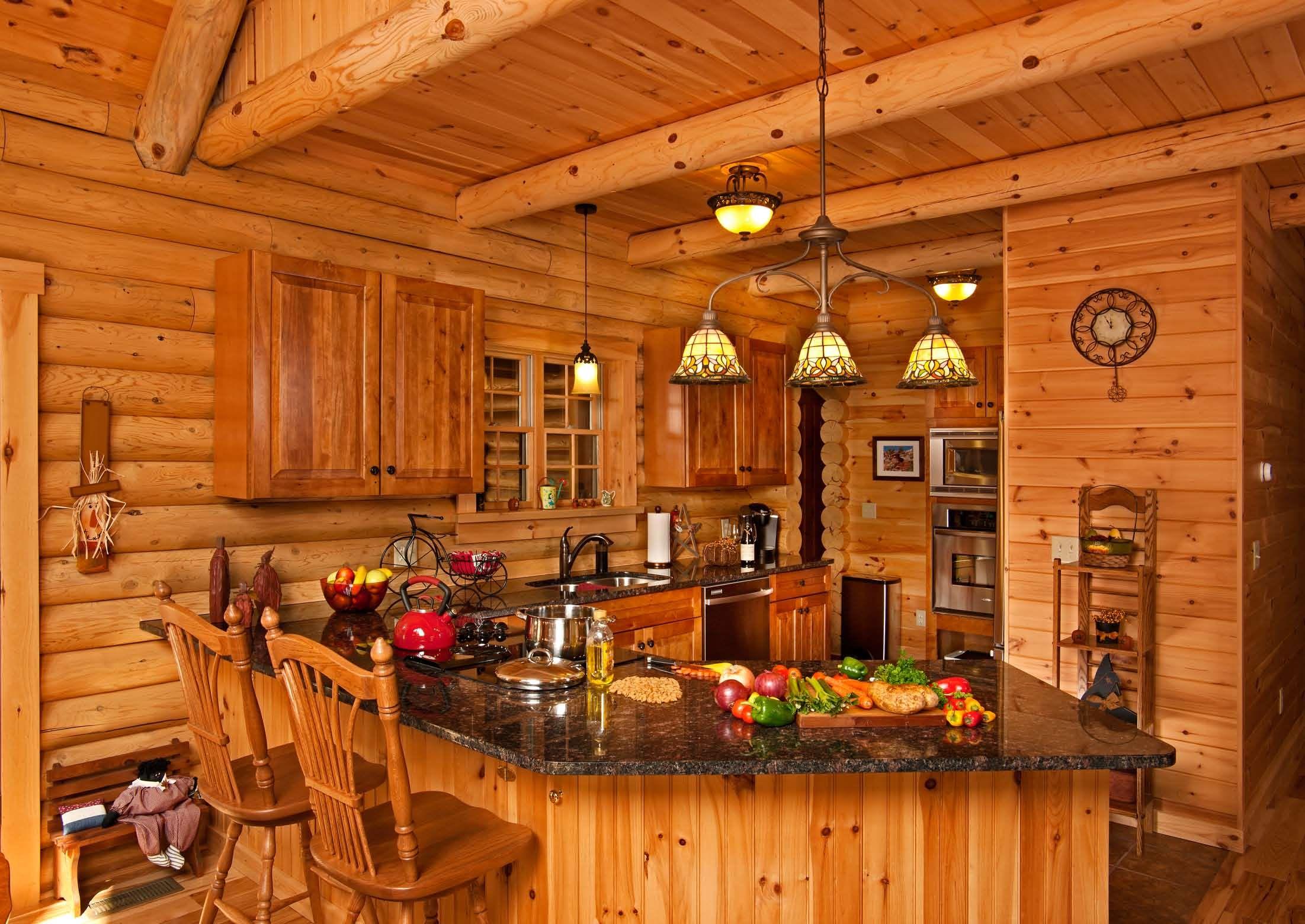Country log home kitchen hiawatha log home kitchens country log home kitchen hiawatha dzzzfo