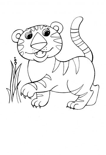 Baby Tiger Animal Coloring Pages Cartoon Coloring Pages Coloring Pages