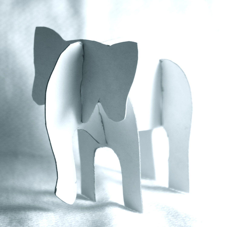 3d Elephant Giraffe Lion Elephant Crafts Elephant Template Craft Images