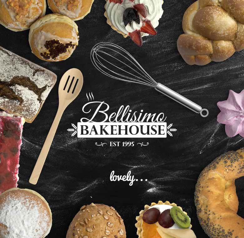 Bellisimo Bakehouse on Behance Bakery Logo Typography Food