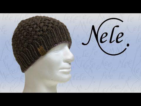 Mütze stricken - Strickmütze für Anfänger im Perlmuster - DIY ...