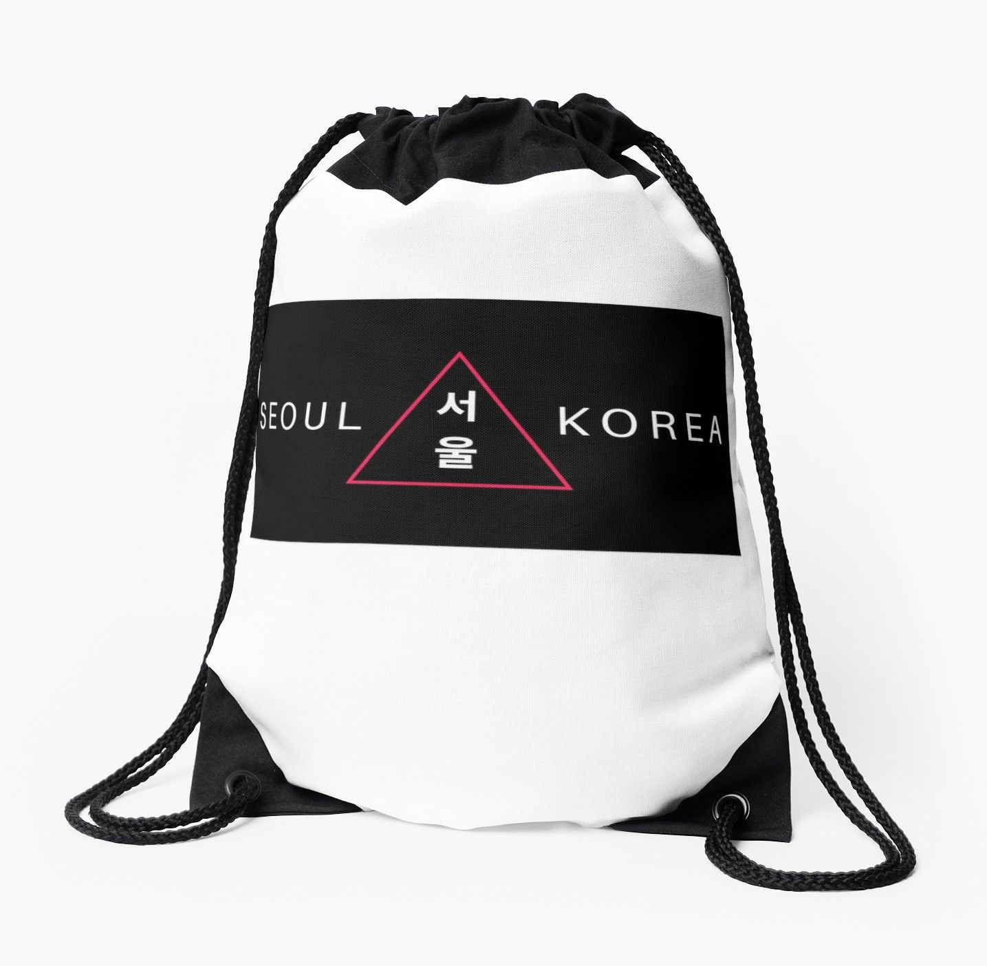 Seoul Korea South Korea Black Red Drawstring Bag By Rtsm In 2021 Bags Classic Backpack Drawstring Bag