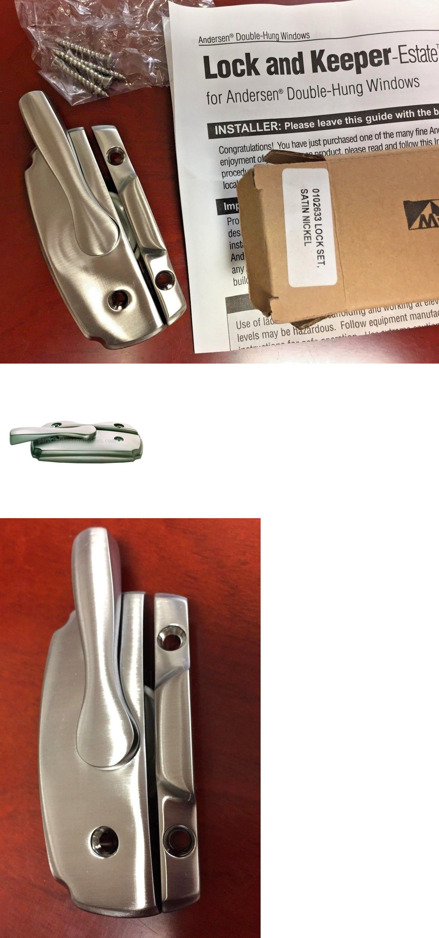 Small surface mounted replacement lock for antique furniture ebay - Window Hardware 45812 Andersen Window Hardware Woodwright Satin Nickel Double Hung Lock Part