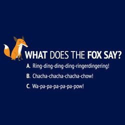 What Does The Fox Say, Multiple Choice T-Shirt