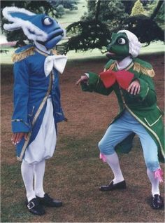 Fish and Frog Footmen costumes!!