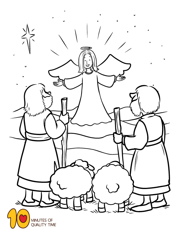 Bible Christmas Story Coloring Pages Coloring Pages Angel Coloring Pages Christmas Bible