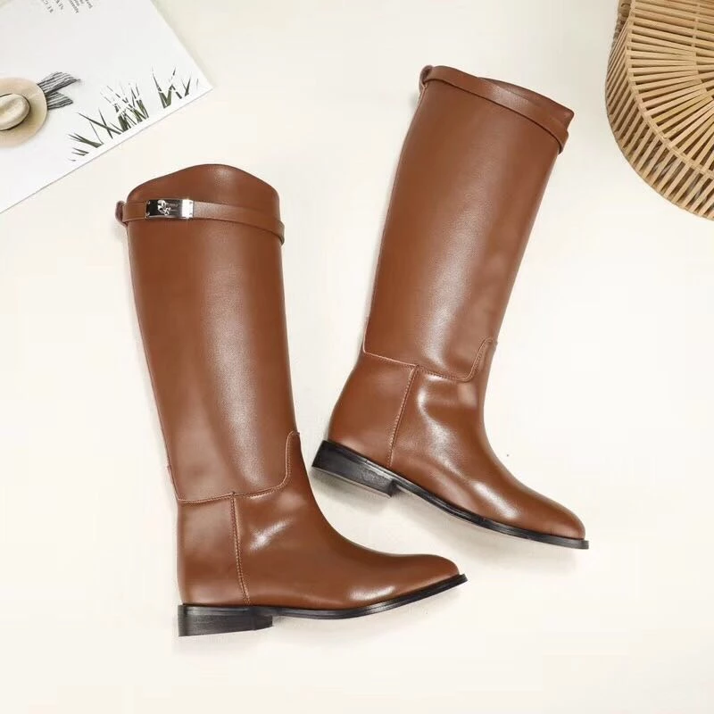 Jandan Genuine Leather Knee High Boots- Jandan Genuine Leather Knee High Boots … – Casual Shoes for Her