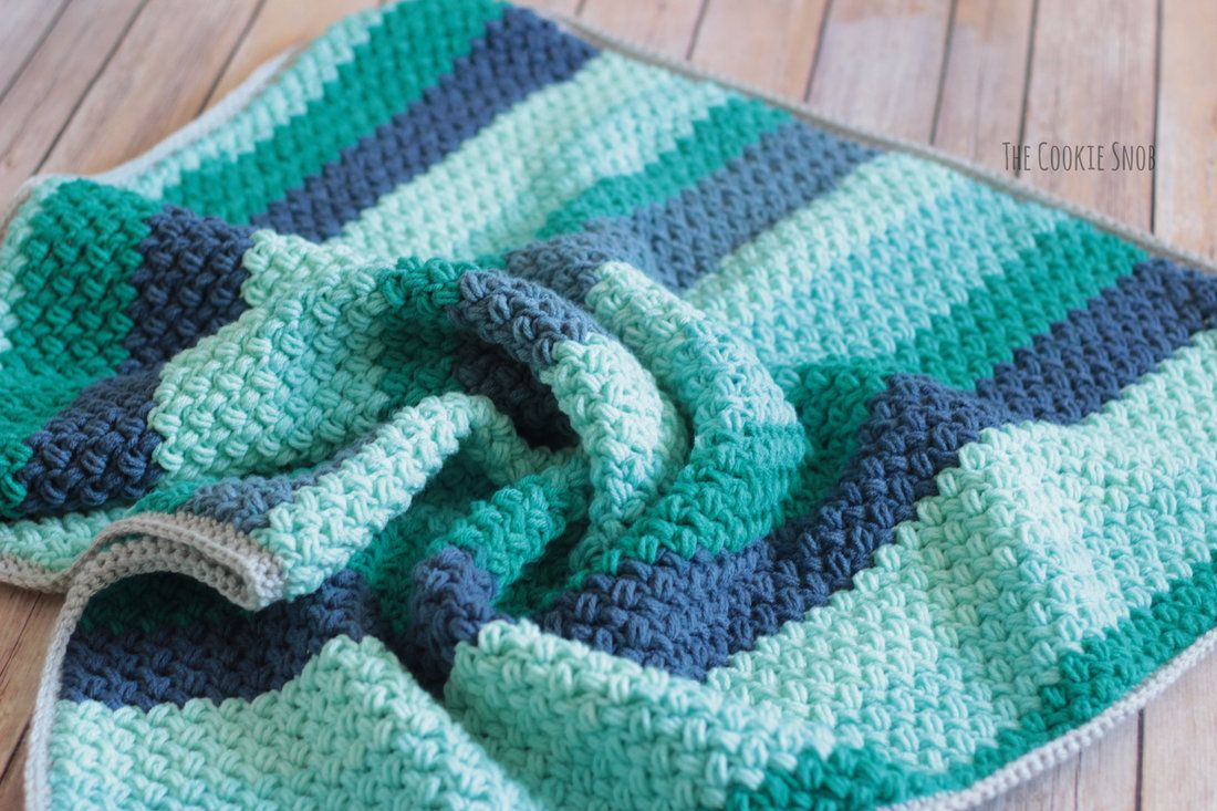 Legume Lagoon Blanket Free Crochet Pattern - uses single crochet and ...