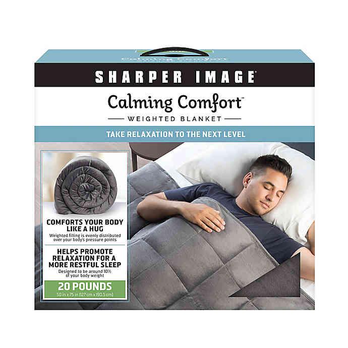 Sharper Image Calming Comfort Weighted Blanket Bed Bath
