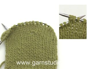 How to increase 2 stitches in 1 stitch together with yarn over (Tutorial Video)