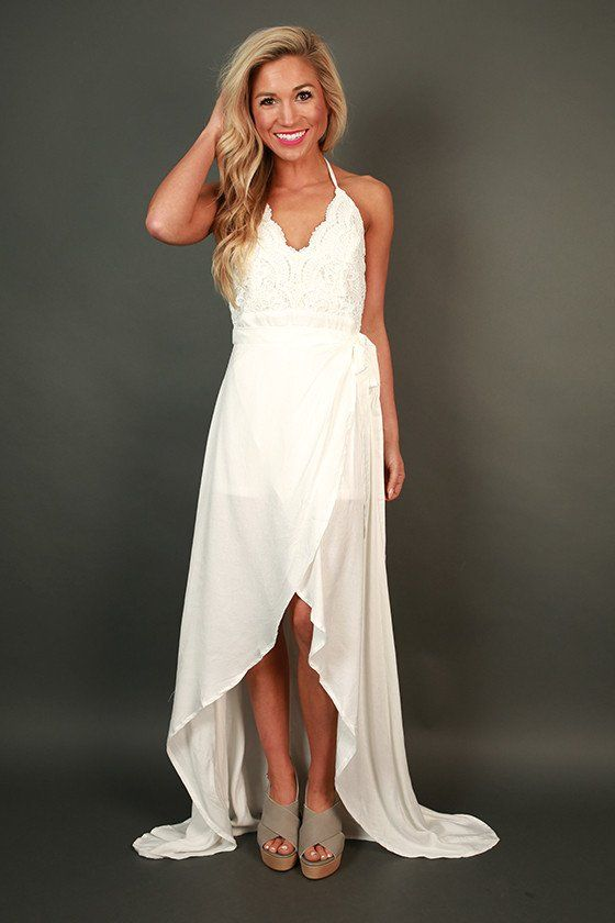 Forever Graceful Maxi Dress in White