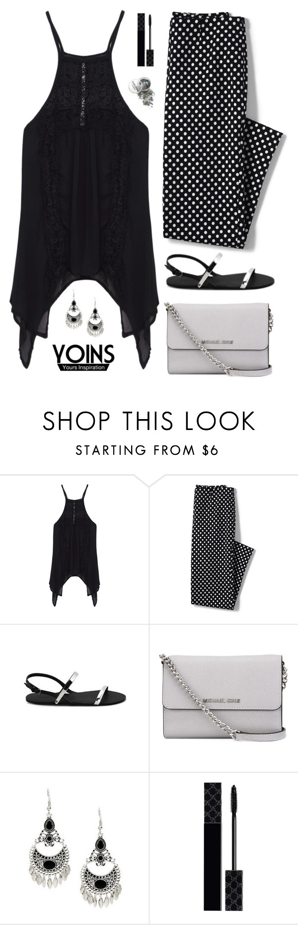 """""""Yoins #16"""" by ellyg91 ❤ liked on Polyvore featuring Lands' End, MICHAEL Michael Kors, Gucci, yoins, yoinscollection and loveyoins"""