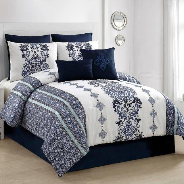 Vcny Twilight 8 Piece Comforter Set Comforter Sets Blue
