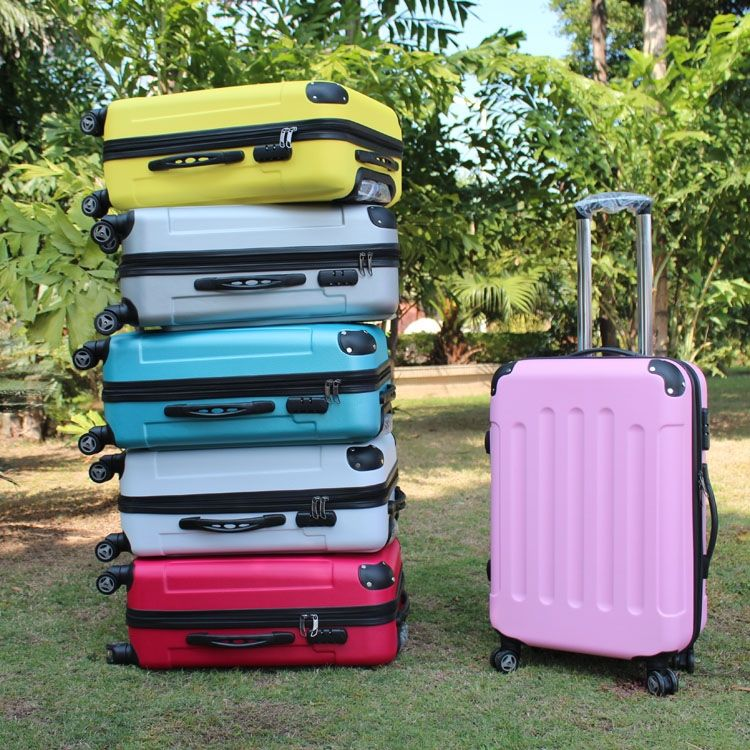 """Hot-selling 20 """"inch trolley luggage ABS universal wheels  travel bag password box"""