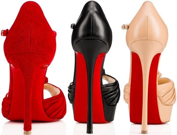 "4bc533f6ec08 Christian Louboutin ""Marchavekel"" Sandals Black Leather Sandals"