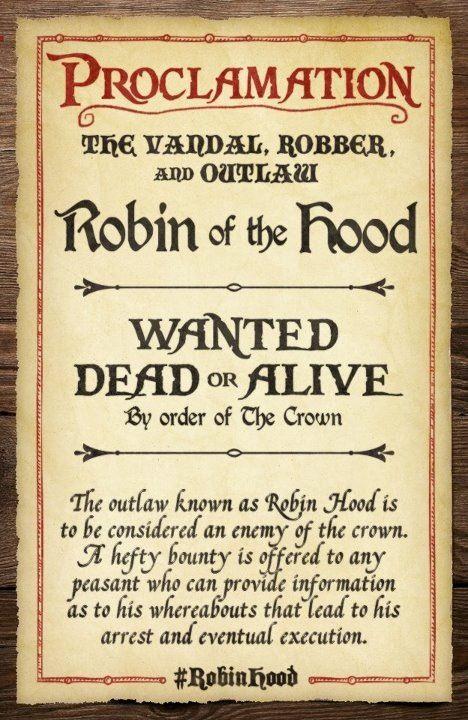 Robin Hood is coming