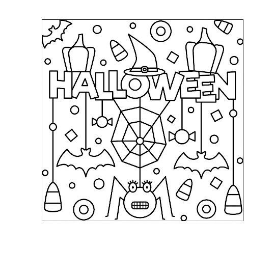 Pin By Andiara Rizzi On Draws Halloween Coloring Book Halloween Coloring Pages Halloween Coloring Pages Printable