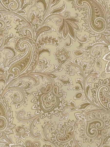 Interior Place - Gold Paisley Swirl Wallpaper, 18.87 ...