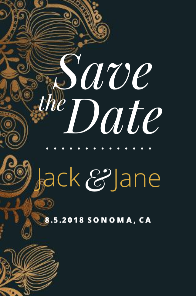 Goldleaf Save The Date Postcard Template Postcard Template Save The Date Templates Save The Date Postcards