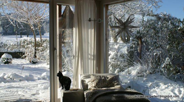 Ein Schweizer Garten-winter view