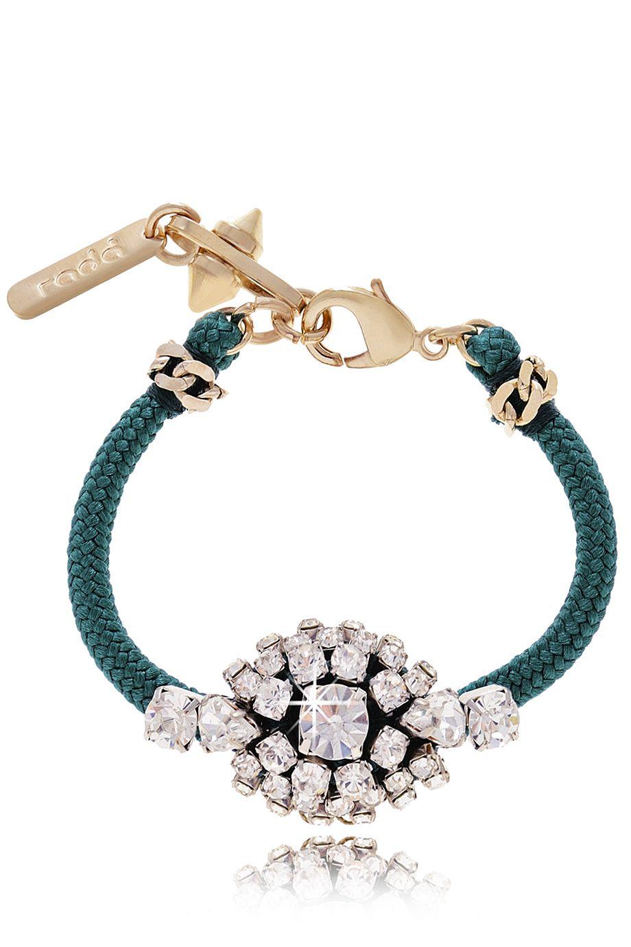 RADÀ LENEXA Petrol Cord Bracelet - ACCESSORIES | JEWELRY | Bracelets | PRET-A-BEAUTE.COM