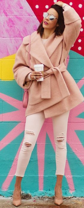 Wear + Where + Well All Everything Blush Fall Street Style Inspo