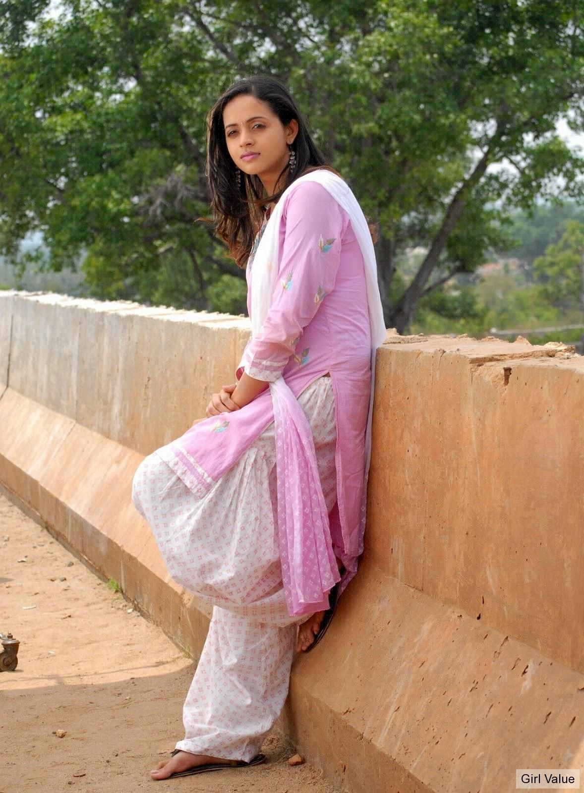 Bhavana in salwar kameez dress