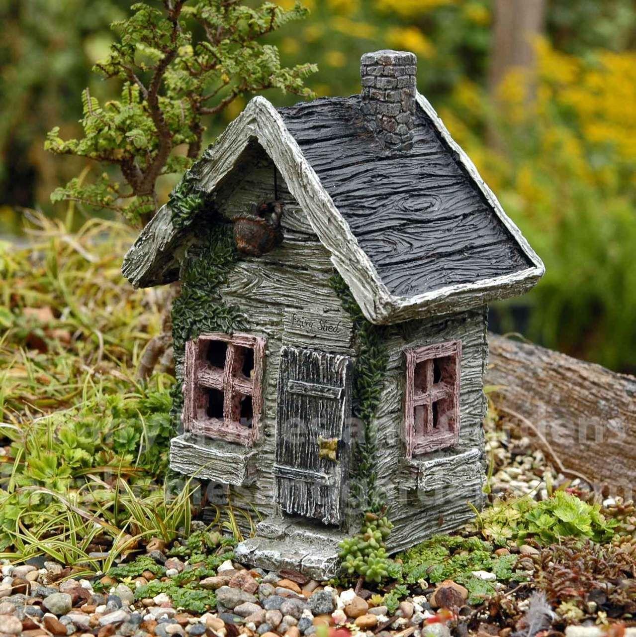 Fairy Garden Shed With Swinging Door
