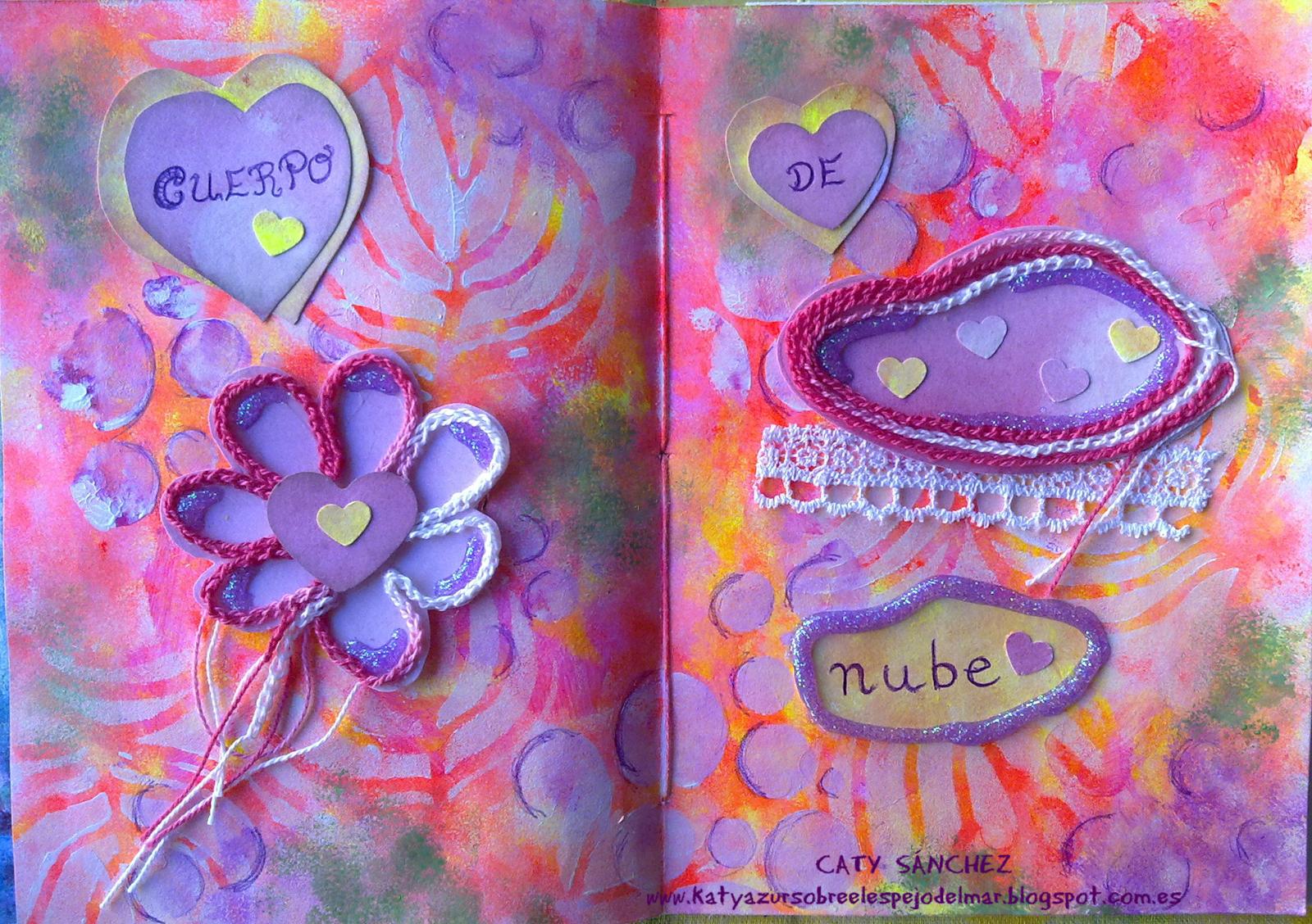 Katyazur sobre el espejo del mar: Art Journal - cuarta página....... nubes...