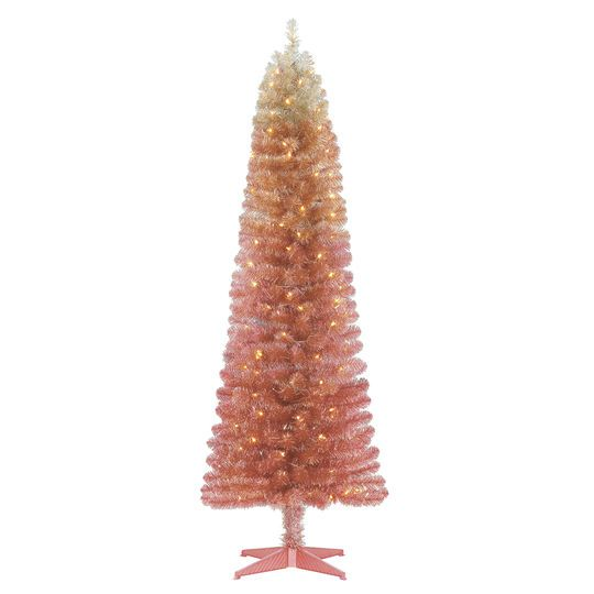 Pink Artificial Christmas Tree.6ft Pre Lit Alexa Artificial Christmas Tree Clear Lights