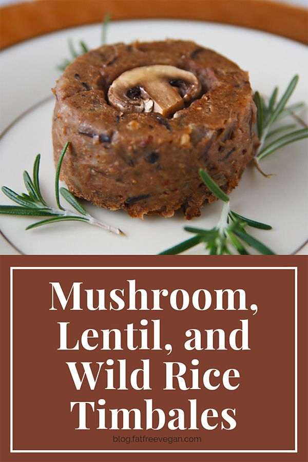 Mushroom Lentil And Wild Rice Timbales