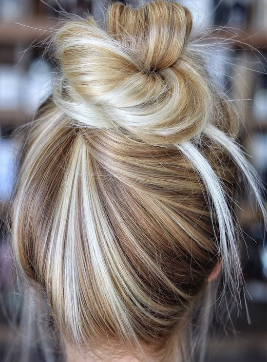 High Bun light Golden color HairStyles2020,  HairStyles2020  Haircut