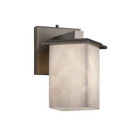 Photo of Justice Design Group CLD-8661-15-NCKL Brushed Nickel Clouds 1 Light Bathroom Sconce – LightingDirect.com