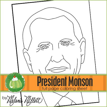 President monson printable coloring page coloring pages for Thomas s monson coloring page