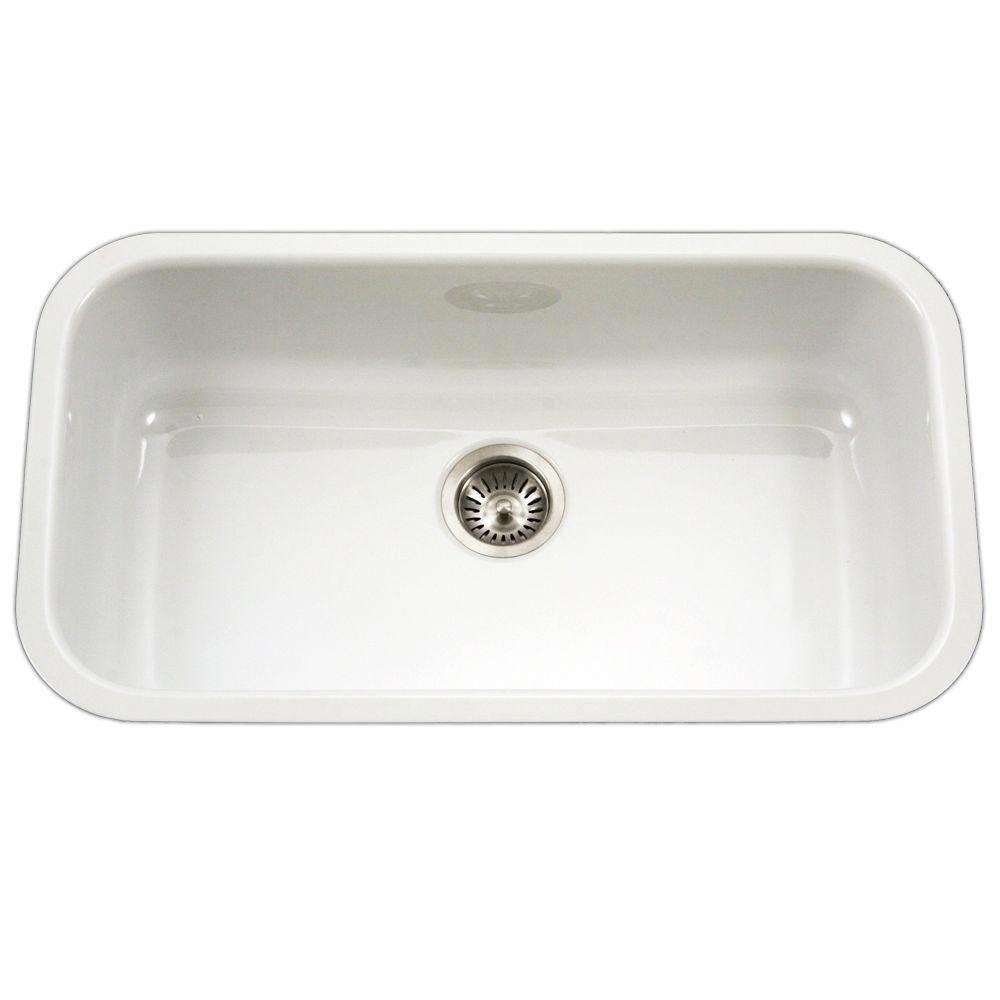 Kitchen Sink Remodel Houzer Porcela Series Undermount Porcelain Enamel Steel 31 In L In 2020 Single Basin Kitchen Sink Single Bowl Kitchen Sink Porcelain Kitchen Sink