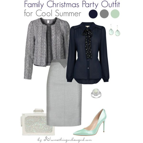 e1686bf57c63 Family Christmas Party Outfit Holiday look for Cool Summer by  thirtysomethingurbangirl on Polyvore