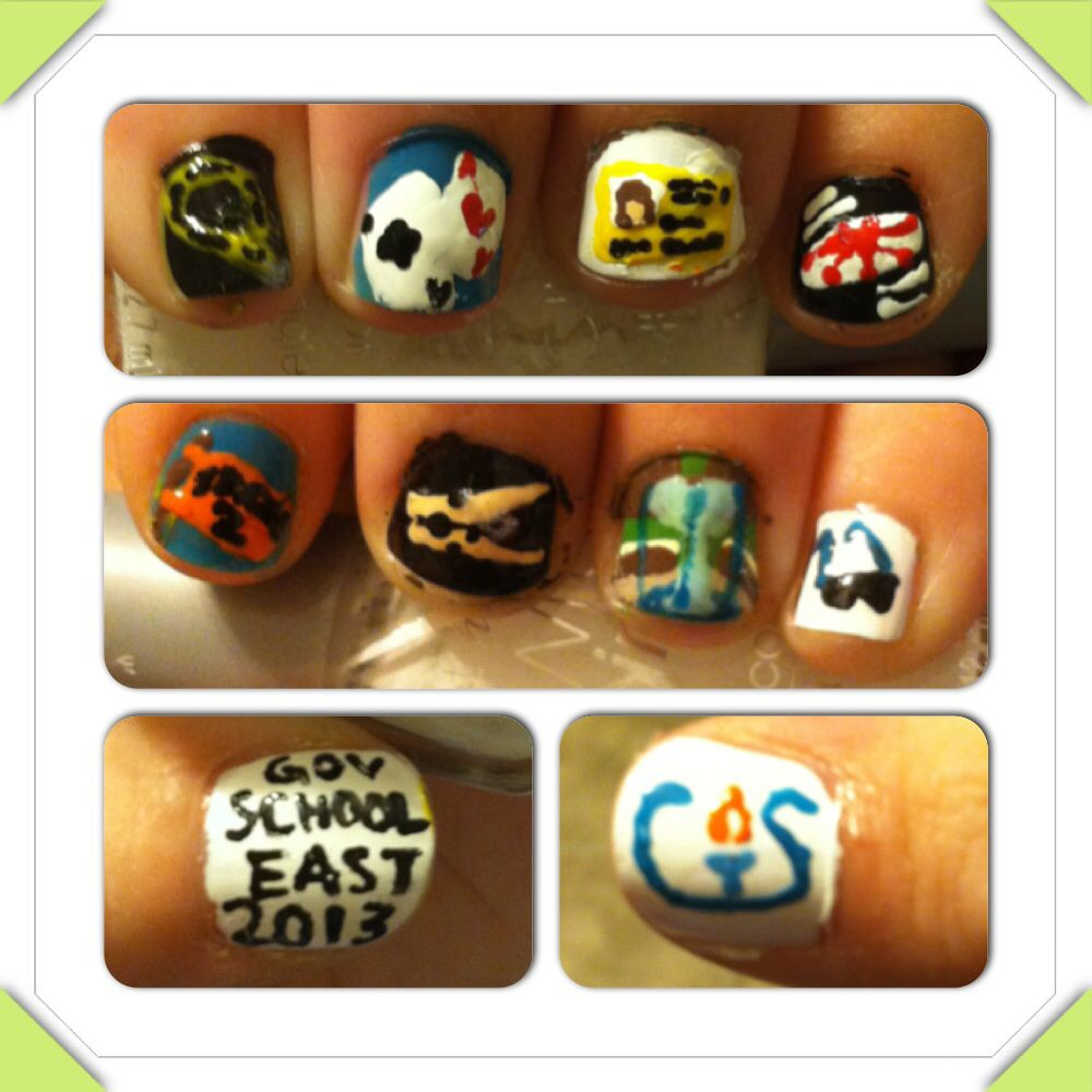GSE 2013 tribute nails I did