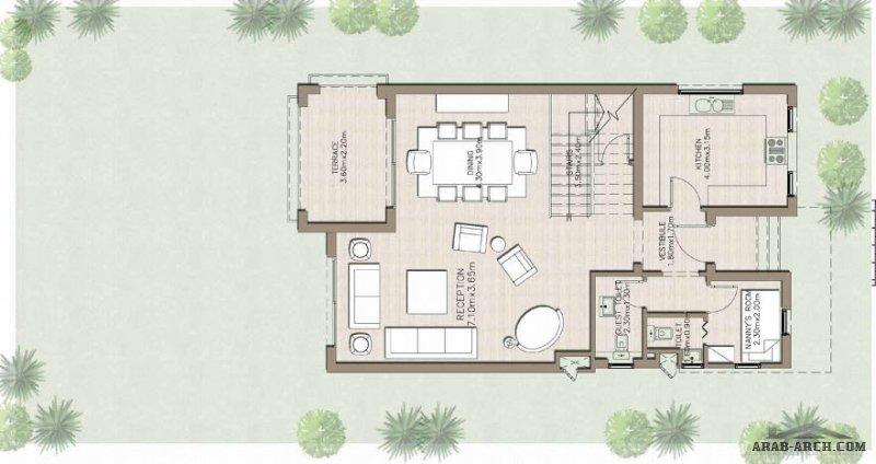 فيلا علي مخطط 100 متر مربع ومساحة الارض 250 متر مربع Floor Plans House