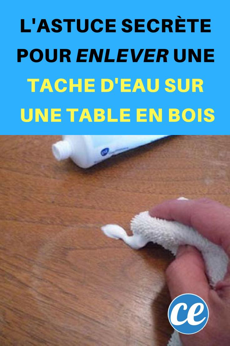 L Astuce Secrete Pour Enlever Une Tache D Eau Sur Une Table En