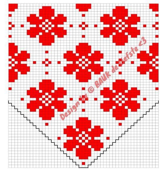 Fair isle pattern Flower Dot - made by Bauk* | Gehaaksel ...